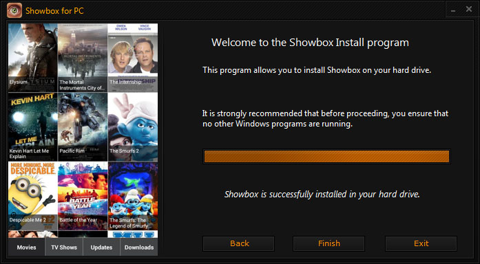 Showbox app on PC